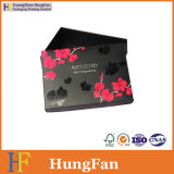 Черный подарок бумаги печатание упаковывая выдвиженческую картонную коробку