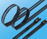 le PVC de 7.0X450mm a enduit 316 serres-câble en métal de relations étroites d'échelle d'acier