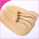Перуанские горячие выдвижения человеческих волос девственницы волос сплавливания