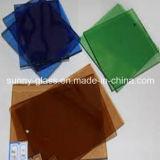 Glace de guichet teintée, Fgreen, gris bleu-foncé et euro, bronze