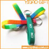 Kundenspezifischer Firmenzeichen-Silikon-SchlüsselringWristband für Förderung-Geschenke (YB-SW-32)