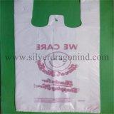 Sacs personnalisés de T-shirt de HDPE pour le supermarché