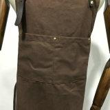 Avental durável da lona do OEM para a loja com as cintas de couro destacáveis