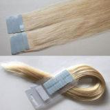 加工されていないバージンのRemyの毛の拡張のブラジルの人間の毛髪テープ