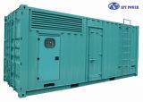 3 générateur diesel tranquille superbe de la phase 1125kVA avec l'engine de Perkins, 4008-30tag3