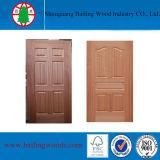 Peau de porte de HDF moulée par placage en bois normal