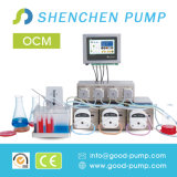 Pompe liquide péristaltique personnalisée par solution d'Ocm pour le bioréacteur de laboratoire