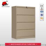 Anti-Incliner le meuble d'archivage transversal de tiroir de la mémoire 4 en métal de construction