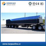 Het in het groot Geteerde zeildoek van de Dekking van de Vrachtwagen van de Prijs van de Fabriek pvc dubbel-Met een laag bedekte