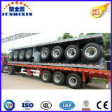 20FT Semi-Trailer Flatbed do leito do recipiente de 3 eixos