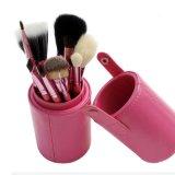 Sombra de ojo y cepillos cosméticos del maquillaje 12PCS de la cara con la caja del cilindro