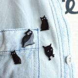 Insieme bello del Brooch del gatto dell'epossidico dello smalto del nero dei monili di modo