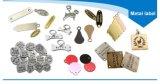 Überzogene kundenspezifische private gedruckte Sorgfalt-Kleid-Tuch-Metallmarken-Kennsatz-Marke