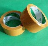 Cinta amarillenta del embalaje de BOPP con la adherencia fuerte