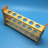 Support en tube de test en bois pour verrerie de laboratoire