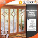 Поднимите и сползите дверь естественно прокатанной Finishied древесины дуба, высоки похваленной двери алюминия пролома твердой древесины одетой термально