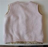 Camisola feita malha pulôver modelada Sleeveless das crianças com tecla