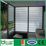 Finestra di alluminio della feritoia di vetro glassato per la stanza da bagno