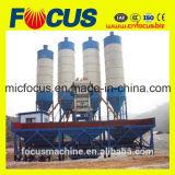 Planta de procesamiento por lotes por lotes concreta inmóvil del transportador de correa Hzs60