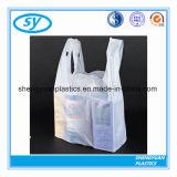 Sacchetto di plastica d'acquisto della maglietta poco costosa di stampa per l'imballaggio per alimenti