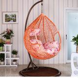 Качание розовой фабрики напольное, мебель ротанга, стул крытого яичка вися (D011)