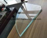 6 mm Ultra Clear vidrio templado para la ventana de construcción