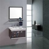 Governo di parete semplice della stanza da bagno dell'acciaio inossidabile con lo specchio