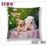 犬によって印刷される正方形の装飾のクッション