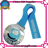Medalha do metal com gravura do logotipo do cliente 3D