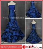 Robe de bal d'étudiants de noce de robe de soirée de satin de bleu royal (AS2135)