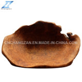 Wooden naturel Root Carving Exquisite et Classical Plate