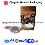 Kundenspezifischer Plastikkaffee-verpackenbeutel mit Ventil und Reißverschluss