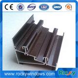 Perfil de alumínio anodizado da porta do frame de alumínio para a janela e a porta