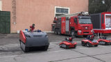 Estrutura da esteira rolante do robô da luta contra o incêndio (K02SP6MCVT1000)