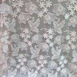 tissu chaud de lacet de vente de lacet blanc de l'Applique 3D