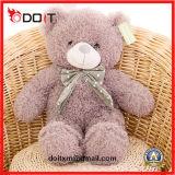 Brinquedo de seda enchido do luxuoso do brinquedo do urso da fita do luxuoso