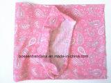Naar maat gemaakte Embleem Afgedrukte Bleekgeel van Microfiber van de Polyester Promotie Magische Naadloze Tubulaire