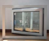 [هيغقوليتي] بيضاء لون مسحوق يكسى حريريّة كسر ألومنيوم قطاع جانبيّ شباك نافذة مع تعقّب هويس متعدّد [ك03039]