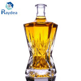 Gift Packaging 750ml Flint Glass Bottle with Glass Cap