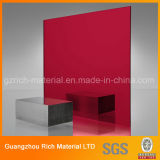 Colorir a folha plástica acrílica do espelho/a folha espelho do plexiglás PMMA para a gravura/estaca