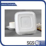 Disposbale quadratische weiße Plastikplatte