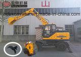 Escavatore idraulico della nuova piccola rotella di Baoding di prezzi competitivi da vendere