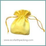 Подгонянный мешок подарка ювелирных изделий Drawstring бархата выдвиженческий с печатание логоса