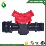 Robinets à tournant sphérique de PVC d'irrigation en plastique de tuyauterie mini mâles
