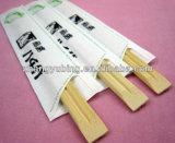 Palillos de bambú con la cubierta de papel completa
