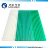 Crystal Green Polycarbonate Twin-Wall Board pour le toit du bâtiment