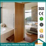 Porte affleurante en bois solide contemporaine pour des projets de Chambres