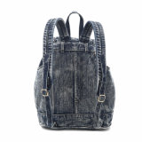 Das Neigen von Rhinestone Badges Denim-Dame Backpack (MBNO040040)