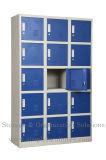 Armarios de almacenaje del metal con 12 puertas