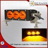 30W 6inch choisissent la rangée avec barre blanche/ambre d'éclairage LED de couleur